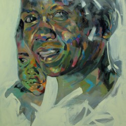 Mother and Child Babati by Emily Kirby